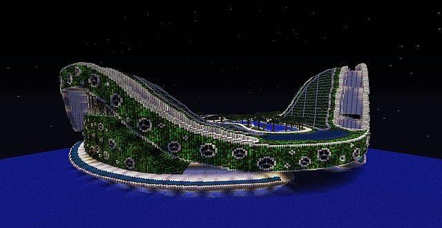 Lilypad city Eco floating city minecraft building ideas 6