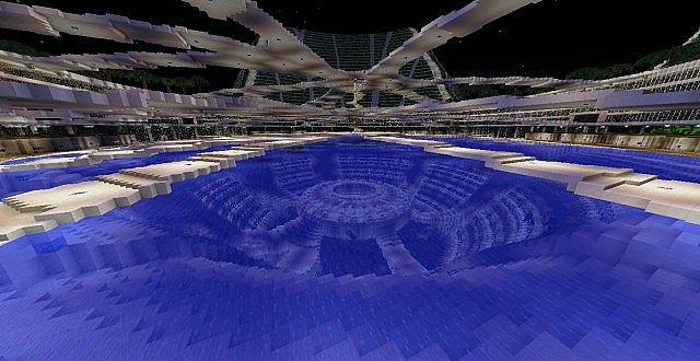 Lilypad city Eco floating city minecraft building ideas 7