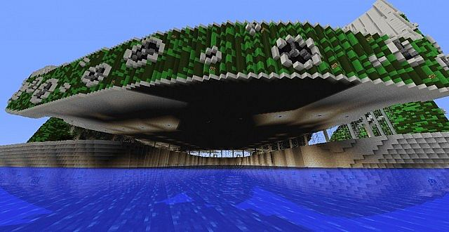Lilypad city Eco floating city minecraft building ideas 8