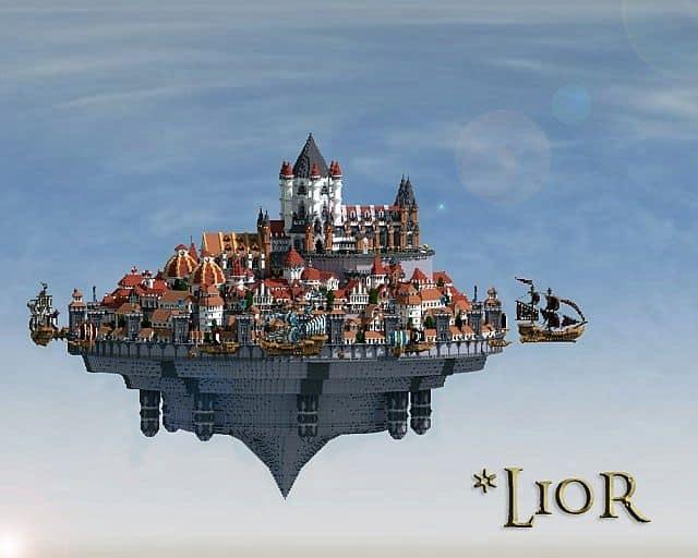 Lior 2013 The Air Kingdom minecraft building ideas