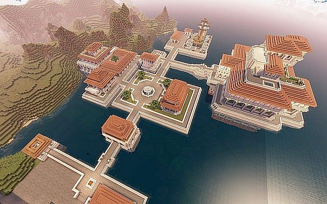 Medieval Fantasy world minecraft building town port ideas 11