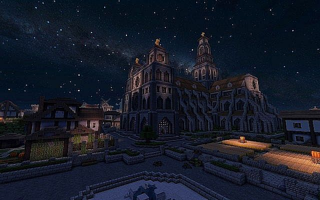 Medieval Fantasy world minecraft building town port ideas 15