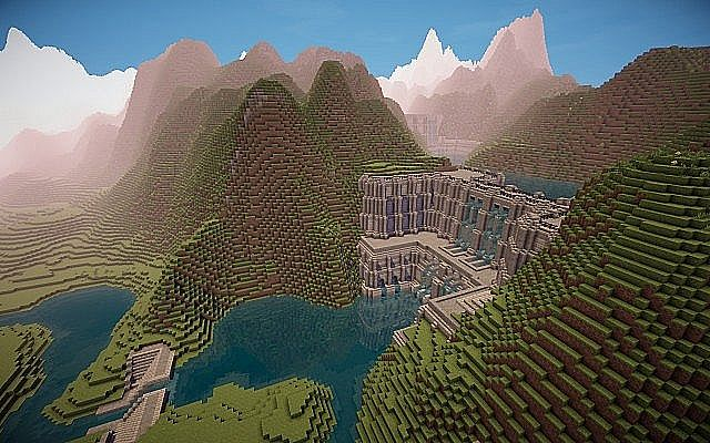Medieval Fantasy world minecraft building town port ideas 3
