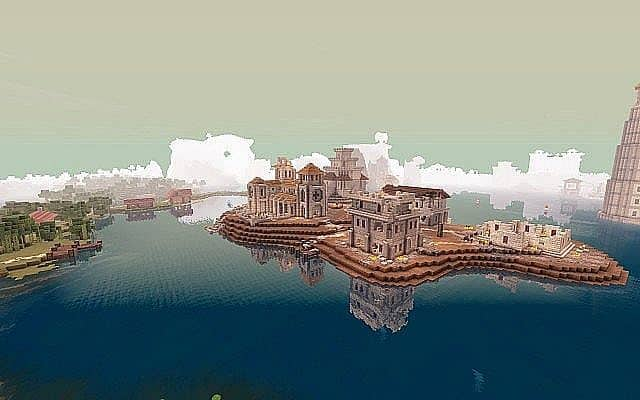 Medieval Fantasy world minecraft building town port ideas 6