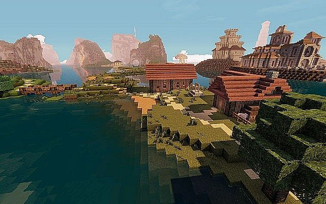 Medieval Fantasy world minecraft building town port ideas 8