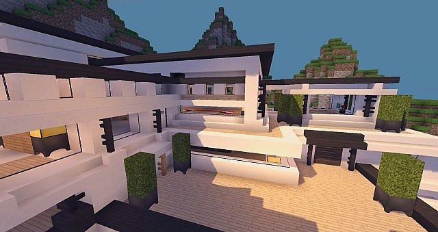 Modern Mansion - Cliff Side Escape Minecraft  12