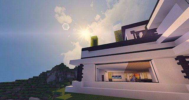 Modern Mansion - Cliff Side Escape Minecraft 16
