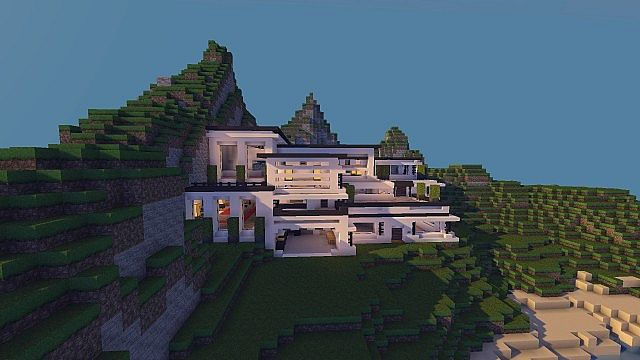Modern Mansion - Cliff Side Escape Minecraft 3