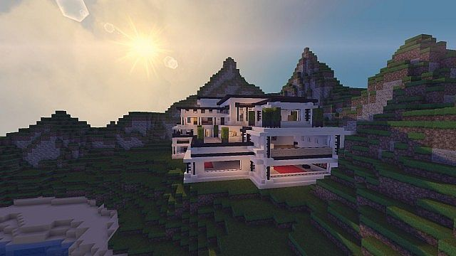 Modern Mansion - Cliff Side Escape Minecraft 5