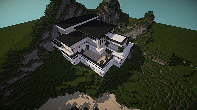 Modern Mansion - Cliff Side Escape Minecraft 6