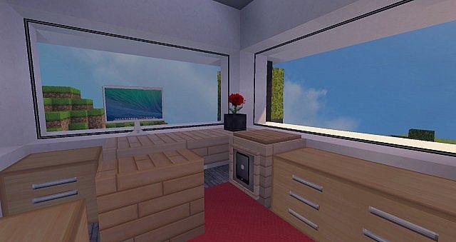 Modern Mansion - Cliff Side Escape Minecraft 8