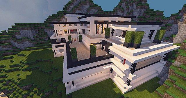 Modern Mansion - Cliff Side Escape Minecraft 9