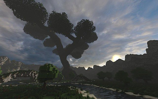 Mystical Tree Custom Terrain Large Custom Tree minecraft building ideas 2