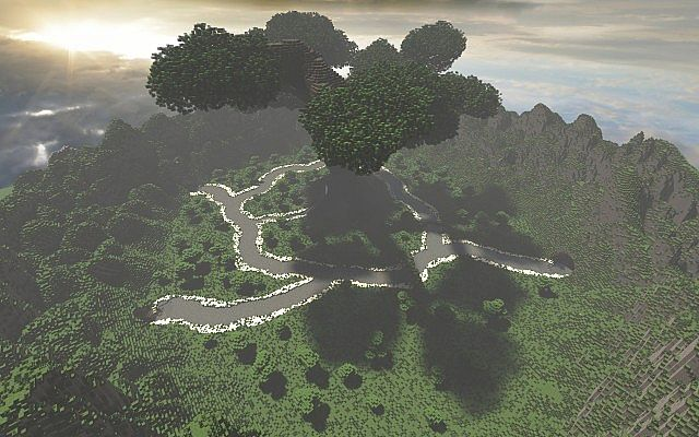 Mystical Tree Custom Terrain Large Custom Tree minecraft building ideas 4