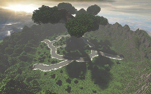 Mystical Tree Custom Terrain Large Custom Tree minecraft building ideas 4
