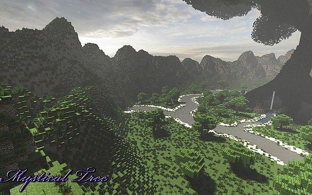Mystical Tree Custom Terrain Large Custom Tree minecraft building ideas