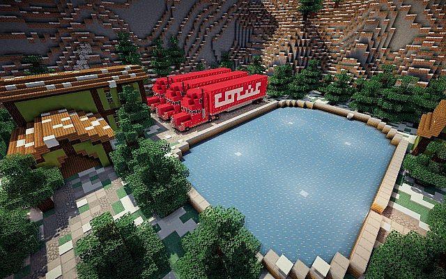 North Pole Christmas Minecraft building ideas 11