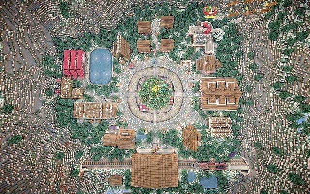 North Pole Christmas Minecraft building ideas 14