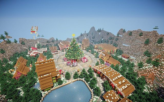 North Pole Christmas Minecraft building ideas 2