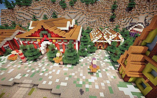 North Pole Christmas Minecraft building ideas 7