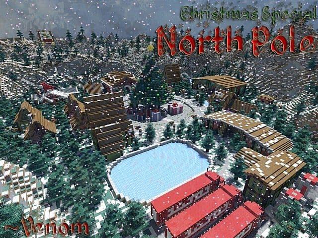North Pole Christmas Minecraft building ideas