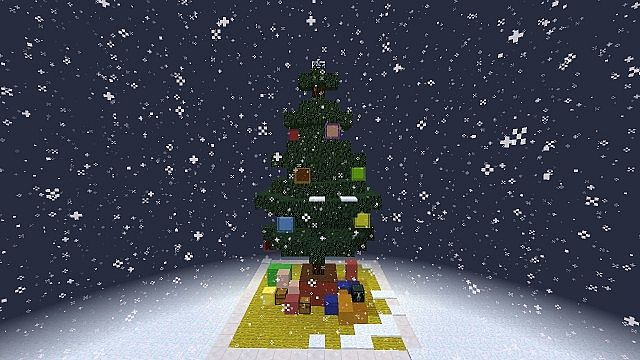 Redstone Working Christmas Tree minecraft building ideas