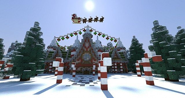 Santa's Workshop merry christmas Special minecraft building ideas 2