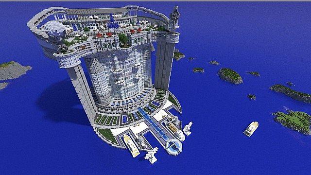Skyscraper TeamHouse castle minecraft building ideas