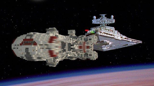 Tantive IV star wars minecraft building ideas 2