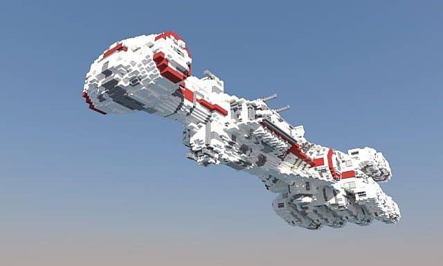 Tantive IV star wars minecraft building ideas 3