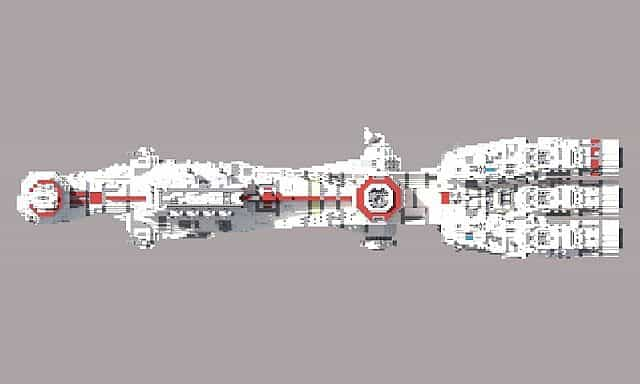 Tantive IV star wars minecraft building ideas 5