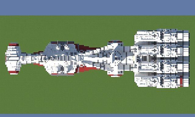 Tantive IV star wars minecraft building ideas 7