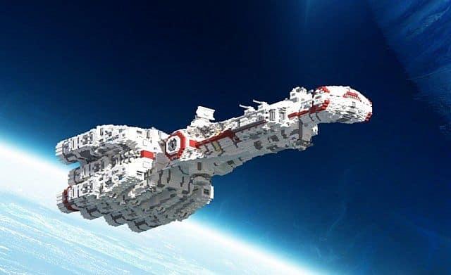 Tantive IV star wars minecraft building ideas