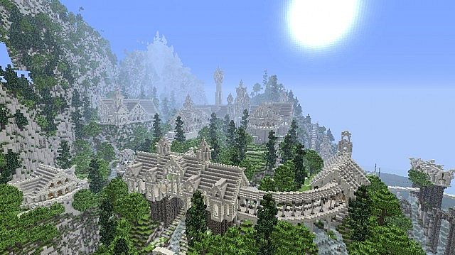 The Valley of Imladris Rivendell minecraft building ideas 2