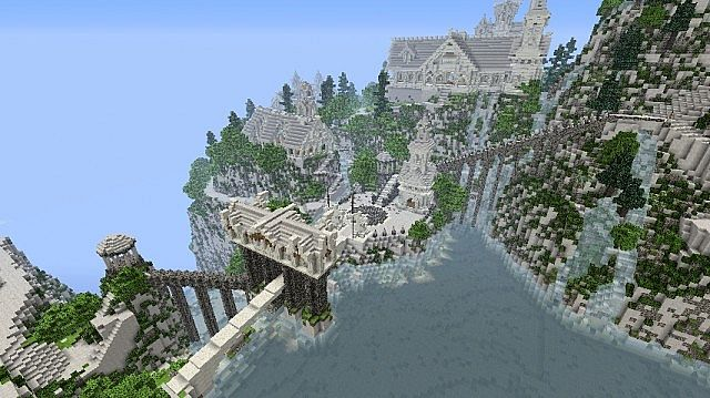 The Valley of Imladris Rivendell minecraft building ideas 3