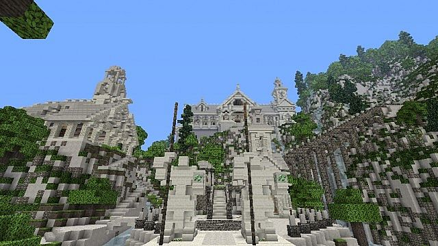 The Valley of Imladris Rivendell minecraft building ideas 4