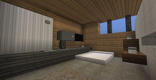chamonix modern mansion minecraft building ideas house 11