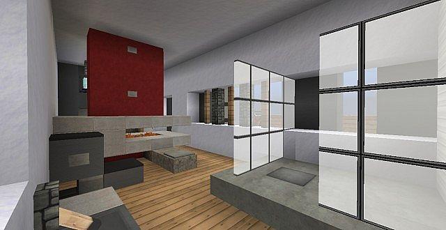 chamonix modern mansion minecraft building ideas house 14