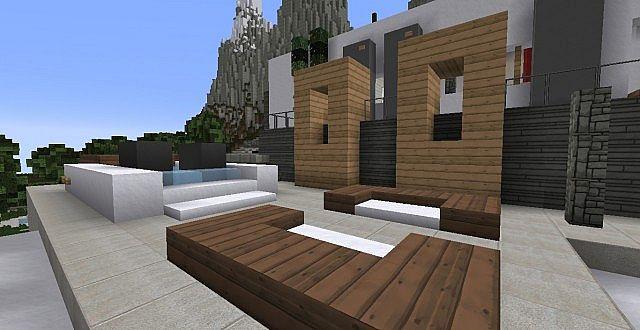 chamonix modern mansion minecraft building ideas house 15