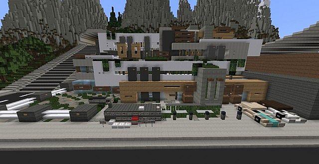 Kitchen ideas for small areas - Chamonix Modern Mansion Minecraft Building Ideas House 2
