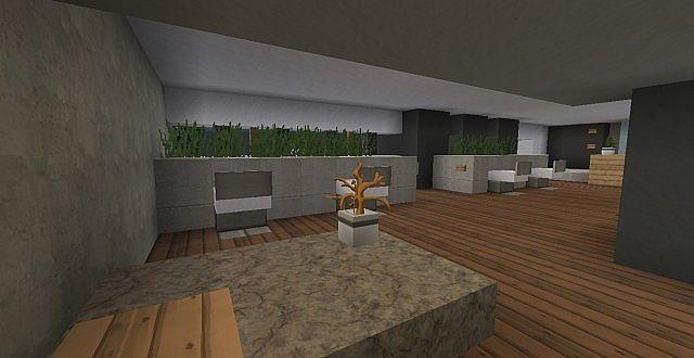 chamonix modern mansion minecraft building ideas house 7