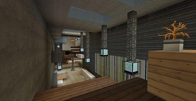 chamonix modern mansion minecraft building ideas house 9