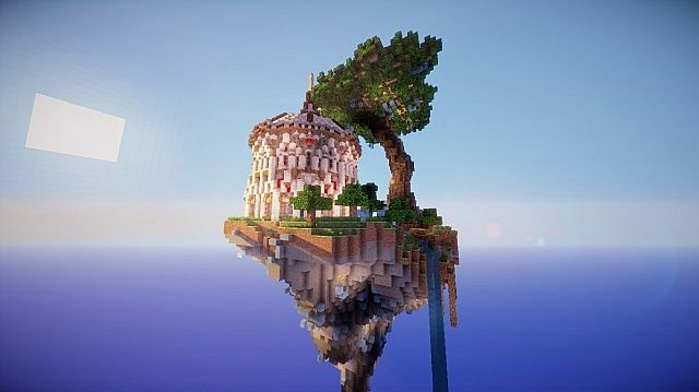 Aedis Floating Temple Minecraft Building Inc
