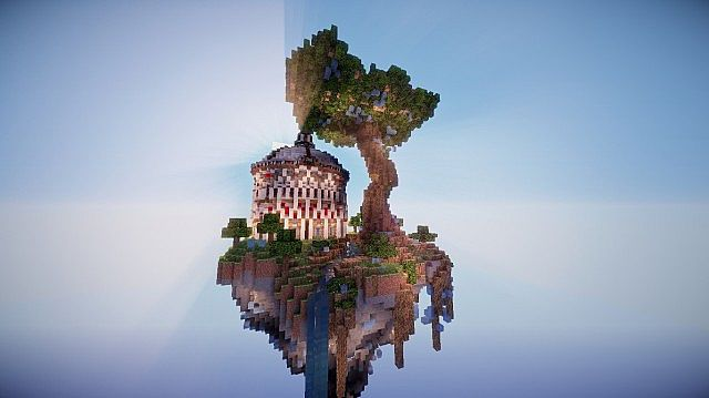 Aedis Floating Temple Minecraft builing ideas