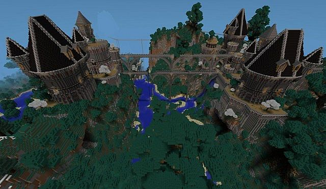 Ancient Castle Ruins minecraft building ideas 4