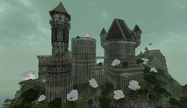 Ancient Castle Ruins minecraft building ideas 6