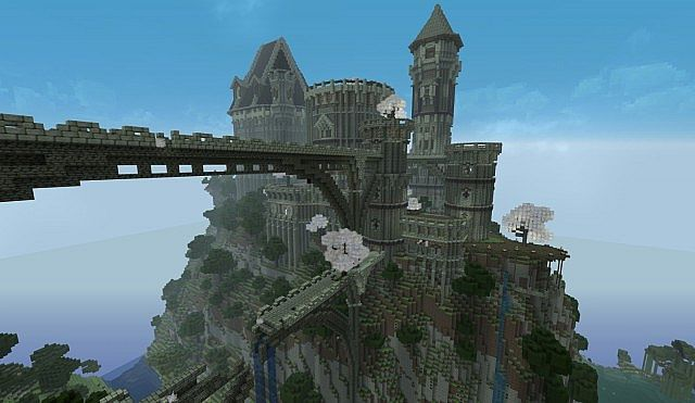 Ancient Castle Ruins minecraft building ideas 7