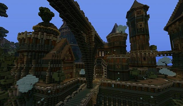 Ancient Castle Ruins minecraft building ideas 8