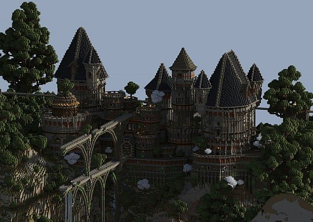 Ancient Castle Ruins minecraft building ideas