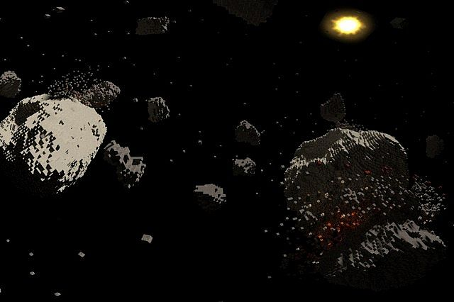 Asteroid chaos space minecraft building ideas 3